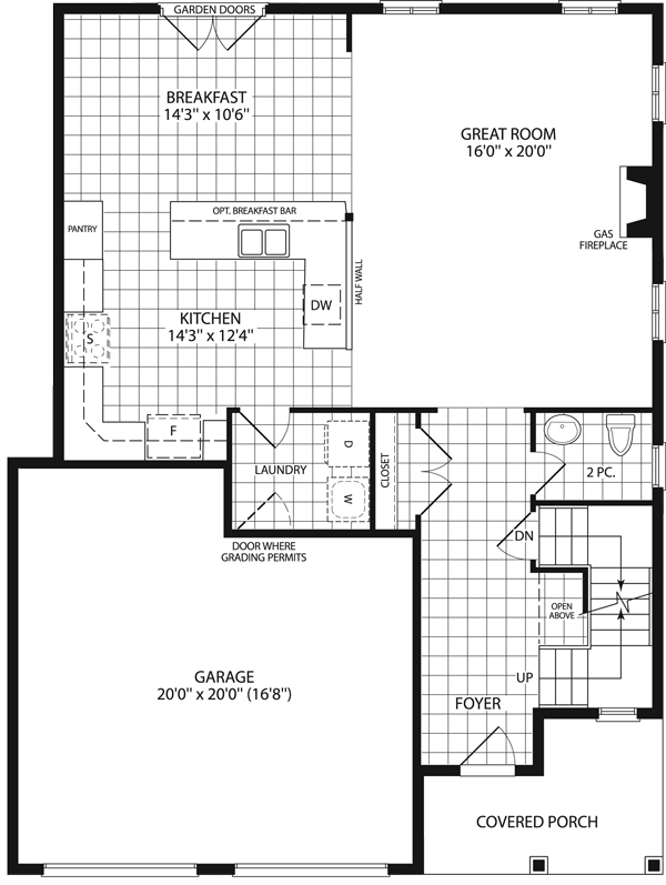 Carrington 2 200 grandview homes for Floor plans for 2200 sq ft homes