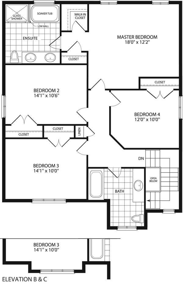 Carrington floor plan carrington model in the heather for Carrington plan
